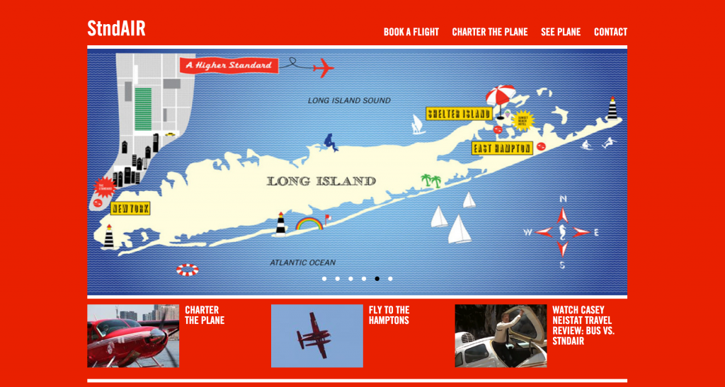 StndAIR Website Screenshot with map