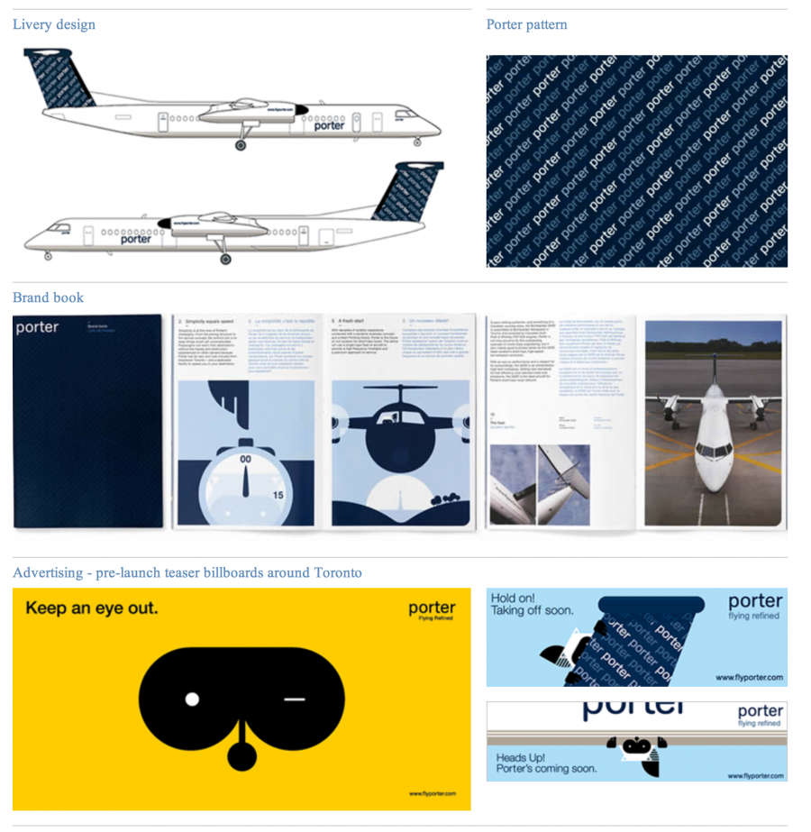 Porter Airlines Visual Identity