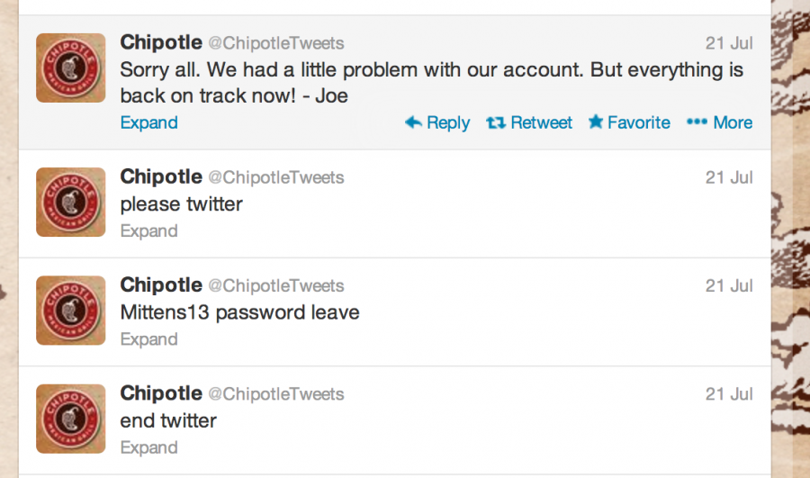 Chipotle's Hacked Tweets